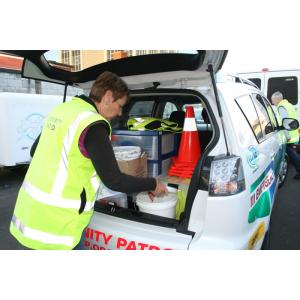 The patrol car is equipped for a range of different emergency situations